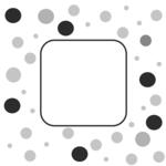 icon-mit-schwarz-grauen-punktes-um-leeres-feld