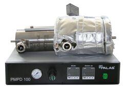 PMPD 100: Ejektor Verdünnungssystem, Ejektorprinzip,  Partikelgrößenverteilung