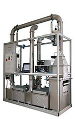 APM 2005 Automatic test rig for permeable materials for the particle penetration measurement