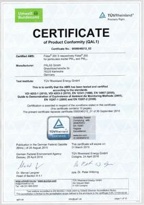 Certificate of product conformity Fidas 200 (2) - media file